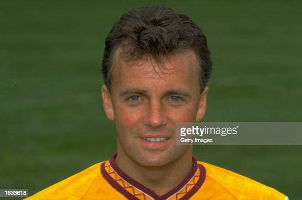 Portrait of Davie Cooper of Motherwell during a photocall at Fir Park in Motherwell Scotland Mandatory Credit Allsport UK /Allsport