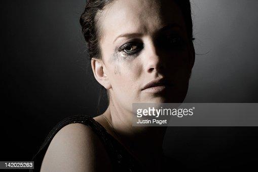 Depressed Woman Crying Portrait Of Depressed ...