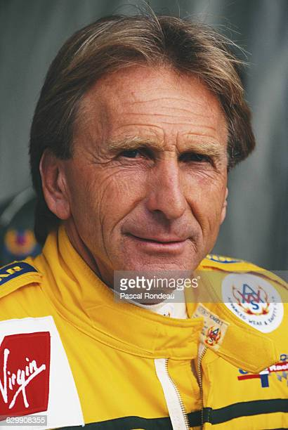 Portrait of Derek Bell of Great Britain driver of the Harrods Mach One Racing McLaren F1 GTR G 296 BMW S70 during the ACO European Le Mans Series 24...