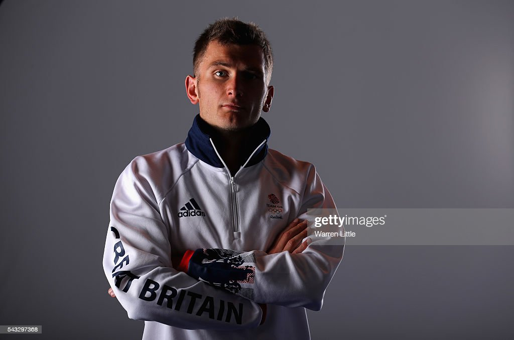 A portrait of Derek Hawkins a member of the Great Britain Olympic team during the Team GB Kitting Out ahead of Rio 2016 Olympic Games on June 27, 2016 in Birmingham, England.