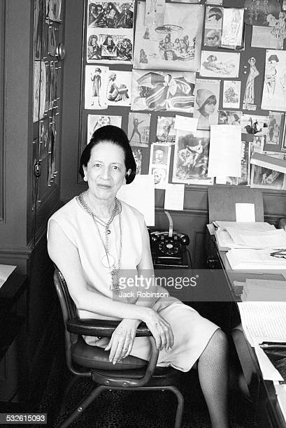 Portrait of Diana Vreeland in her office 20th century