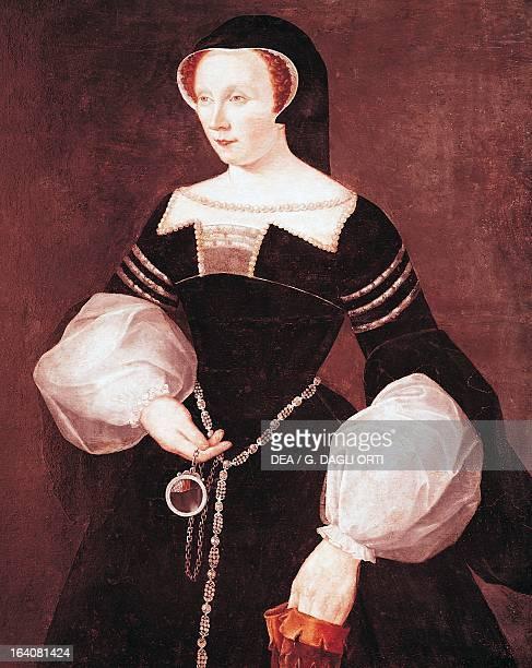 Portrait of Diane de Poitiers Countess of SaintVallier Duchesse d'Etampes and Duchess of Valentinois Oil on panel cm 64x54 Versailles Musée Lambinet