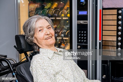 Portrait Of Disabled Senior Woman : Stock Photo