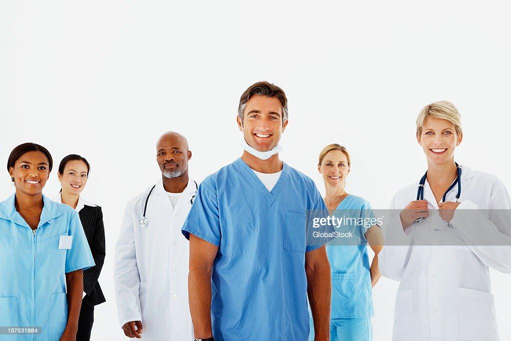 Portrait of doctors smiling : Stock Photo