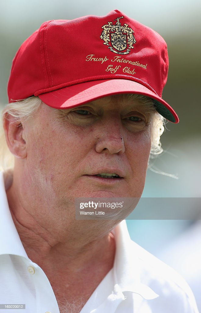 A portrait of Donald Trump ahead of the WGC - Cadillac Championship at the Doral Golf Resort & Spa on March 6, 2013 in Miami, Florida.