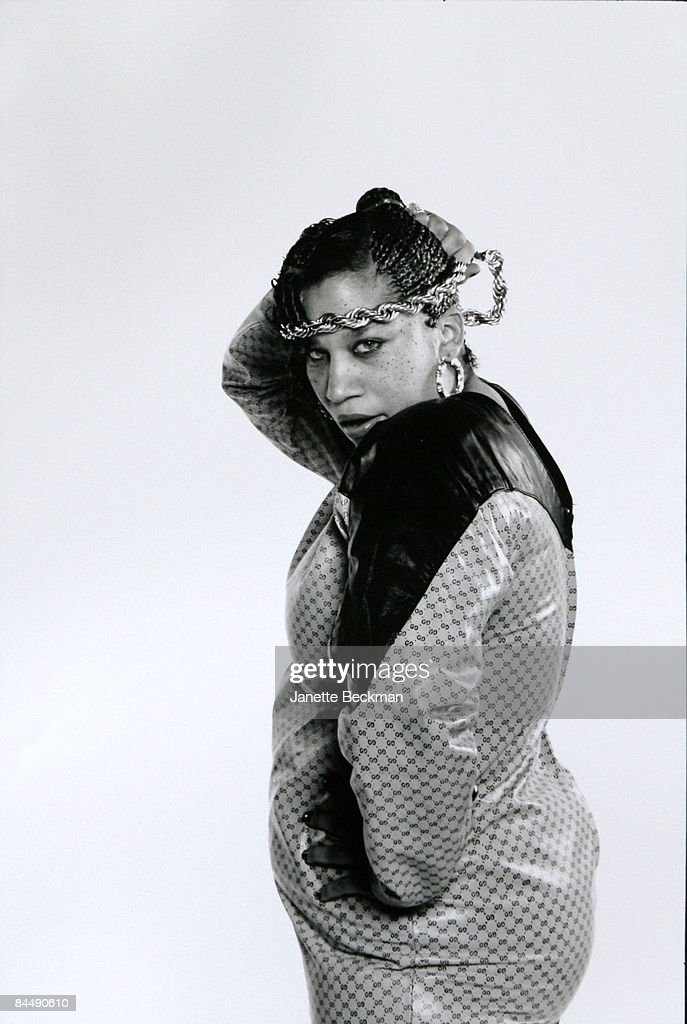 Portrait of Doreen Broadnax, better known as Sparky D, one of the female pioneers in the hiphop world, New York, 1988.