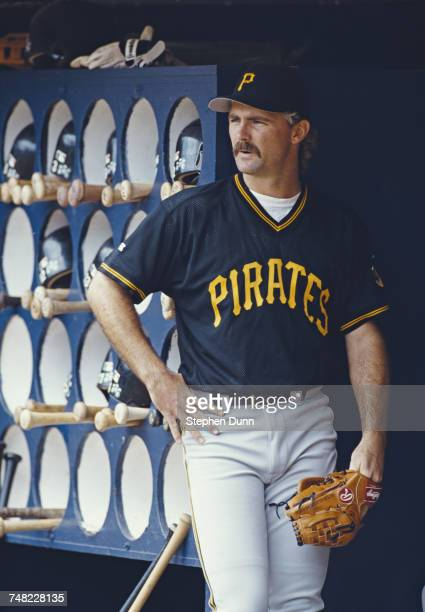 Portrait of Doug Drabek pitcher for the Pittsburgh Pirates during the Major League Baseball National League West game against the San Diego Padres on...