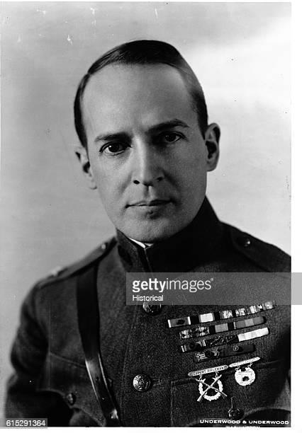 A portrait of Douglas MacArthur wearing the uniform of a brigadier general ca 19181925