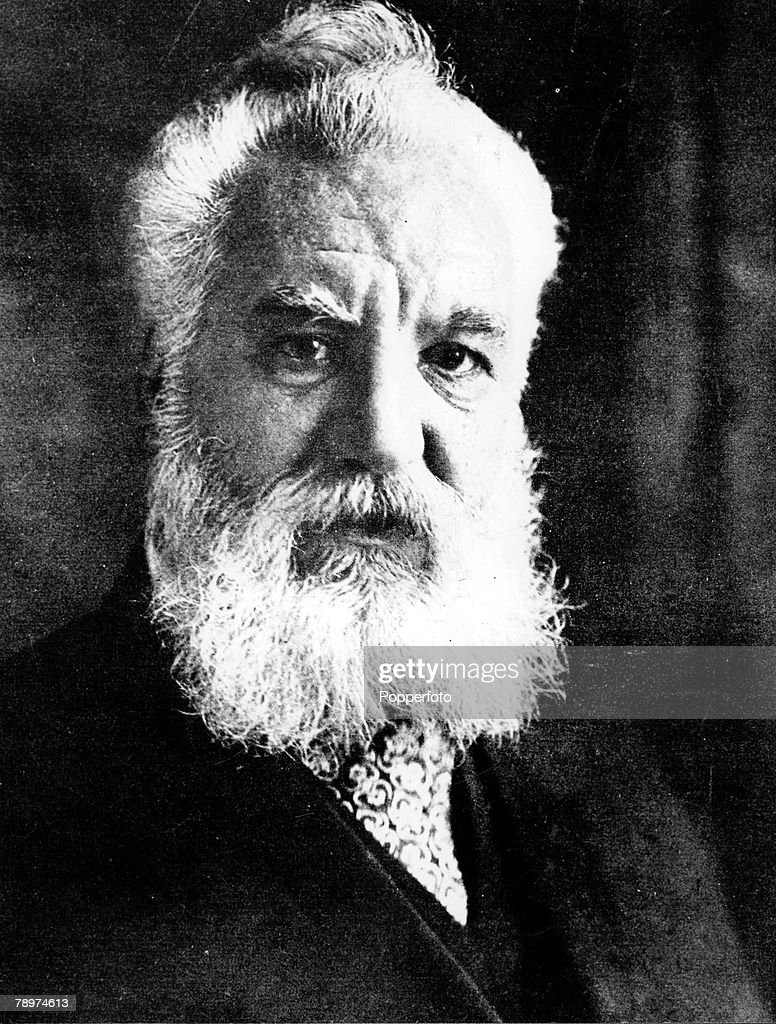 A portrait of Dr <a gi-track='captionPersonalityLinkClicked' href=/galleries/search?phrase=Alexander+Graham+Bell&family=editorial&specificpeople=114041 ng-click='$event.stopPropagation()'>Alexander Graham Bell</a> (1847-1922), the US scientist, born in Scotland, who invented the telephone in 1876
