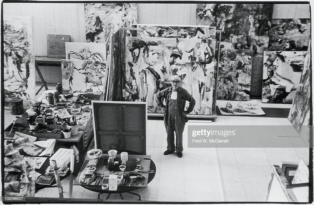 Portrait of Dutch American artist Willem de Kooning (1904 - 1997) as he stands in his studio, East Hampton, New York, March 26, 1978.