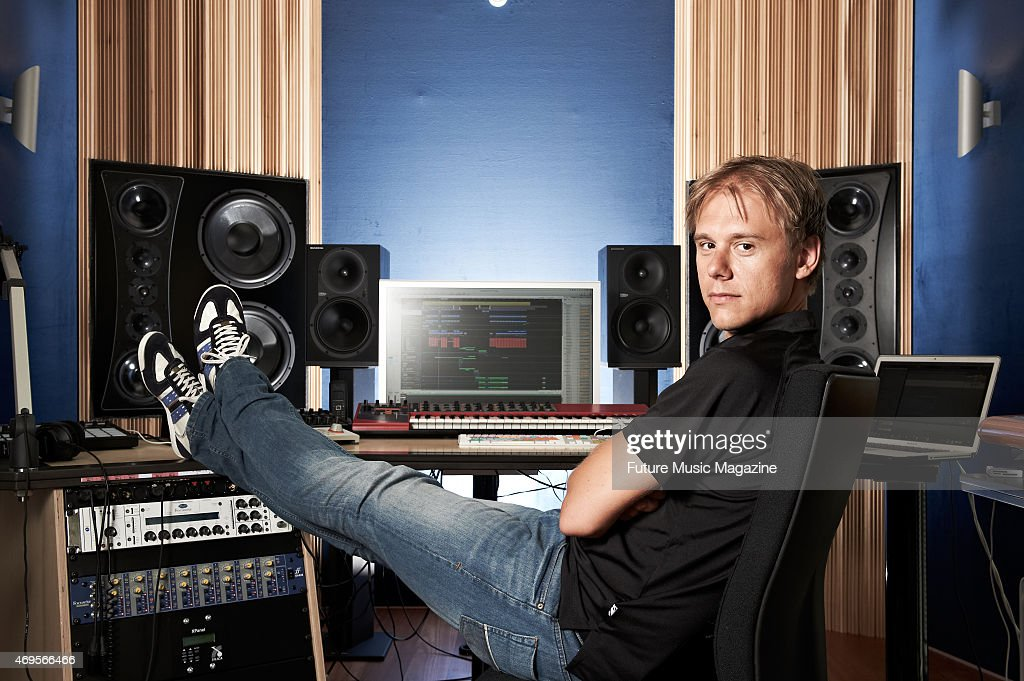 Portrait of Dutch dance music producer and DJ Armin Van Buuren photographed at his studio in Amsterdam, on June 29, 2012.