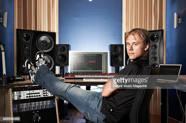 Portrait of Dutch dance music producer and DJ Armin Van Buuren photographed at his studio in Amsterdam on June 29 2012