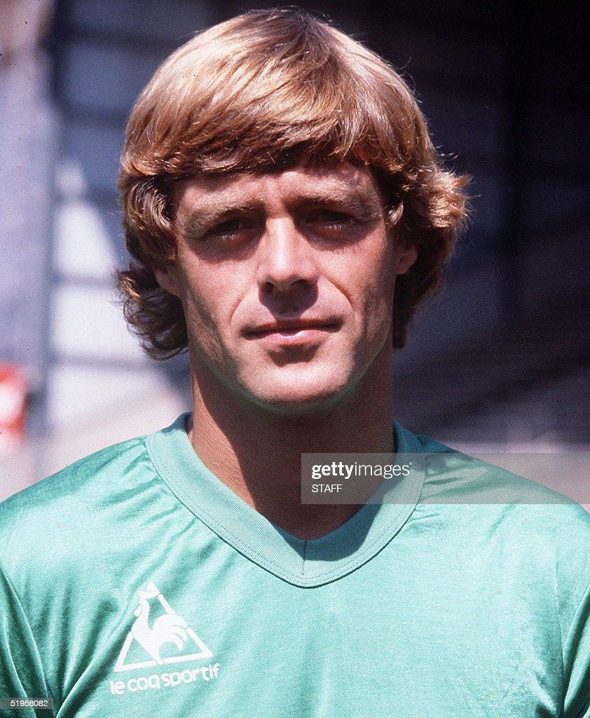 Portrait of Dutch forward Johnny Rep taken in the