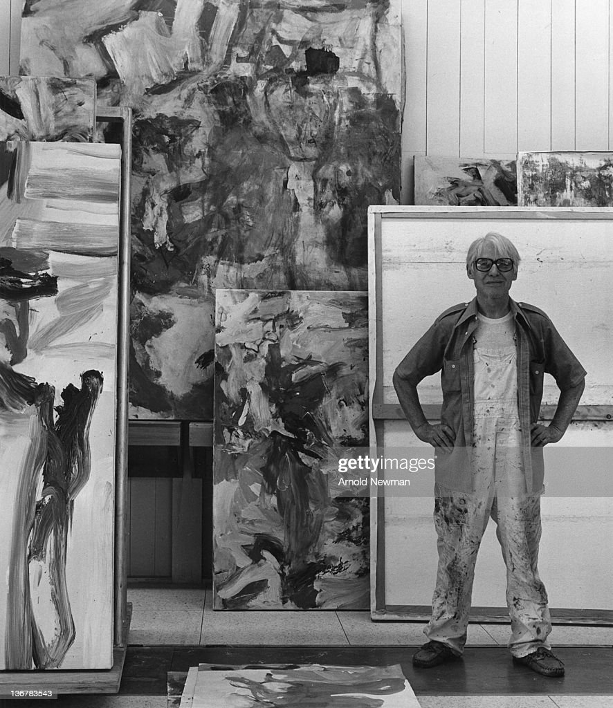 Portrait of Dutch-born American artist Willem de Kooning (1904 - 1997) as he poses in his studio, Springs, New York, December 17, 1978.