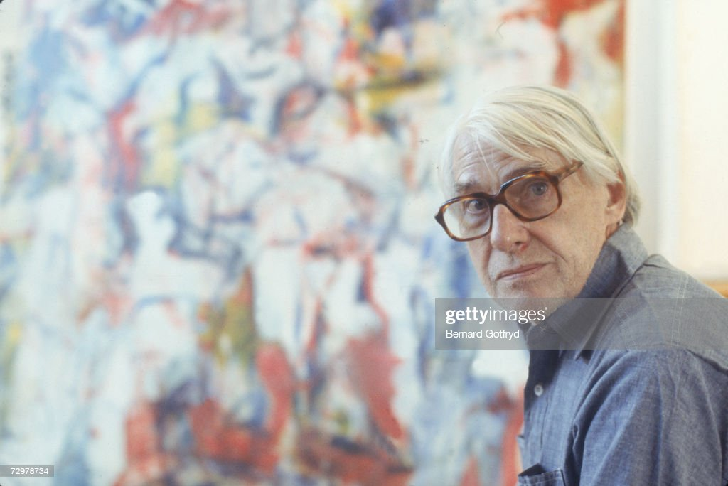 Portrait of Dutch-born American painter Willem de Kooning (1904 - 1997) in his studio, Springs, Long Island, New York, February 1978.