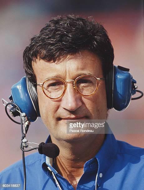 Portrait of Eddie Jordan team principal of Jordan Grand Prix during the Mobil 1 German Grand Prix on 25 July 1993 at the Hockenheimring Circuit in...