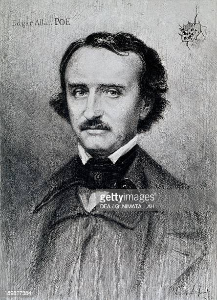 Portrait of Edgar Allan Poe American writer