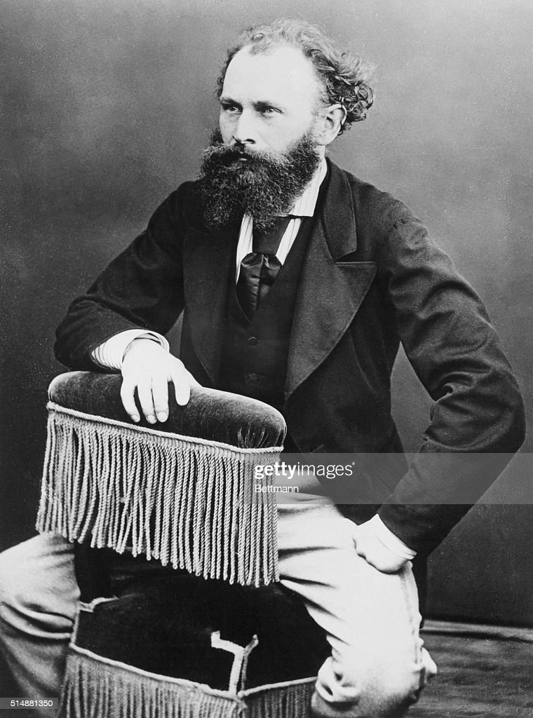 Portrait of Edouard Manet (1832-1883) French painter. Undated photo by Nadar.