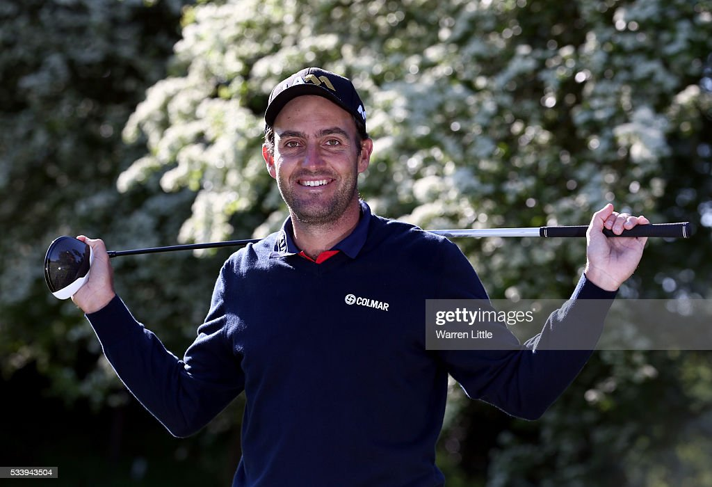A portrait of Eduardo Molinari of Italy ahead of the BMW PGA Championship at Wentworth Golf Club on May 24, 2016 in Virginia Water, England.
