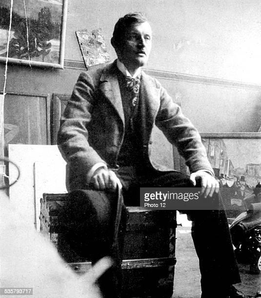 Portrait of Edvard Munch in his studio in Berlin Edvard Munch Munch Museum Oslo