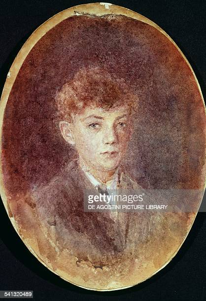 Portrait of Edward Benjamin Britten at the age of nine by Sarah Fanny Hockey watercolour United Kingdom 20th century London National Portrait Gallery