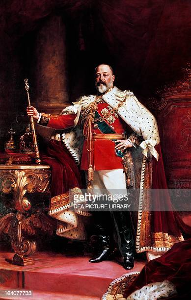 Portrait of Edward VII King of the United Kingdom of Great Britain and Ireland King of the British Dominions and Emperor of India Painted by Luke...