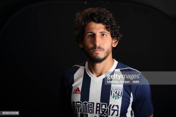 A portrait of Egypt International Ahmed Hegazy of West Bromwich Albion after a training session on August 3 2017 in West Bromwich England