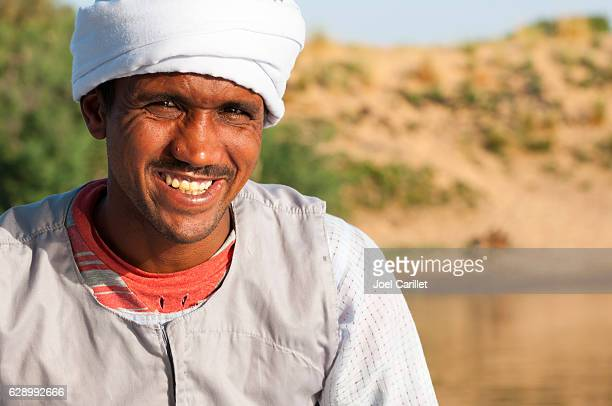 Portrait of Egyptian man on Nile River