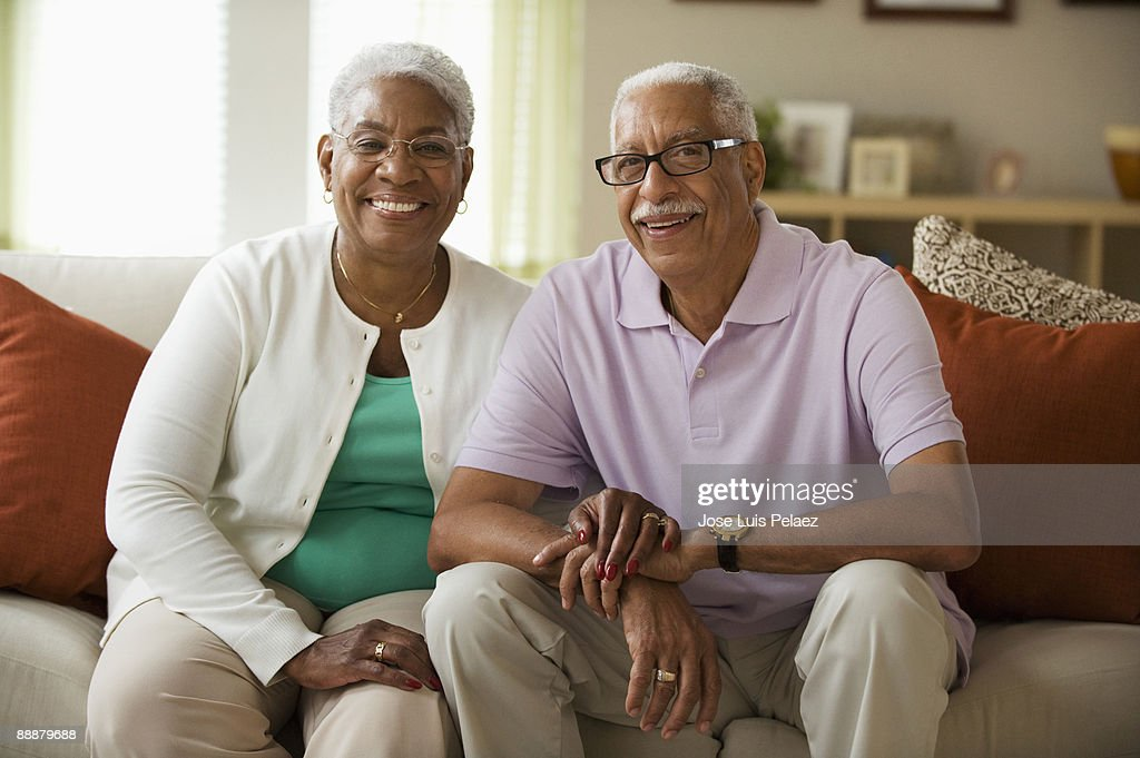 Portrait of elderly couple : Stock Photo