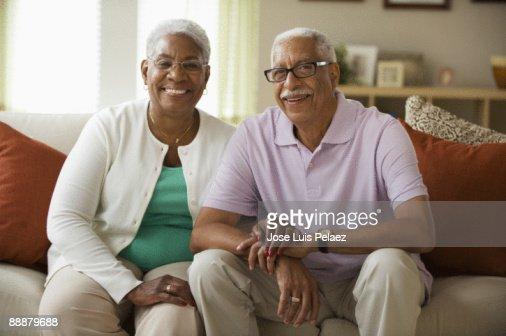 Portrait of elderly couple : Stock Photo