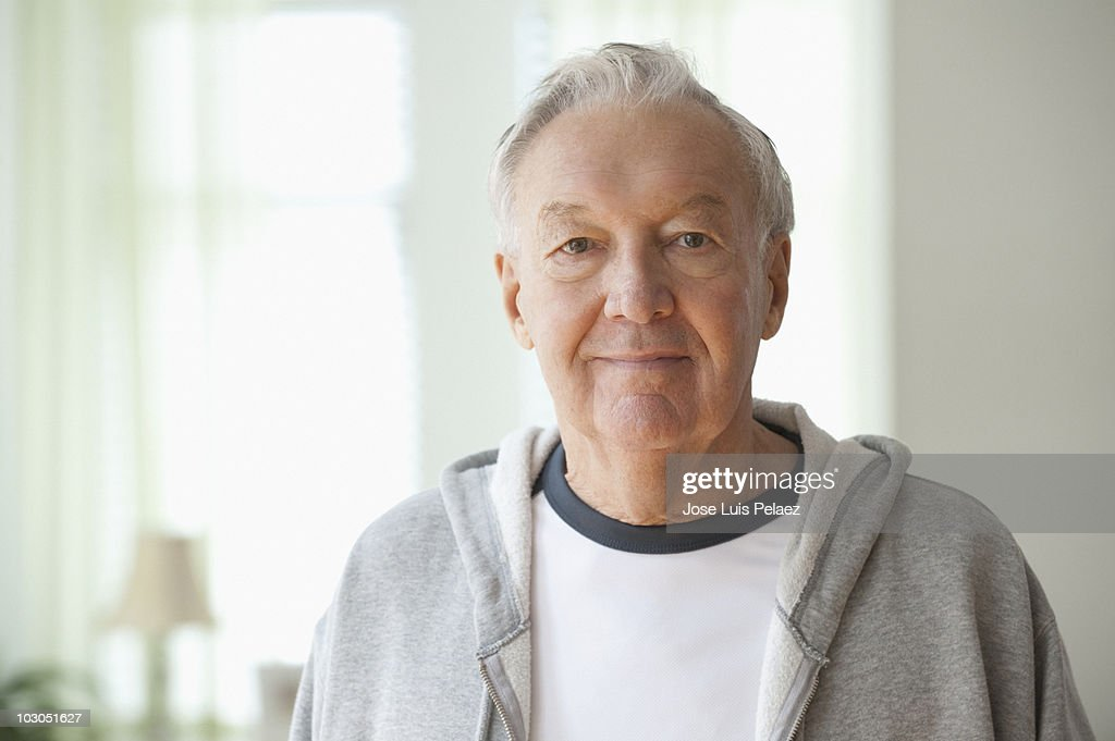 Portrait of elderly man : Stock Photo