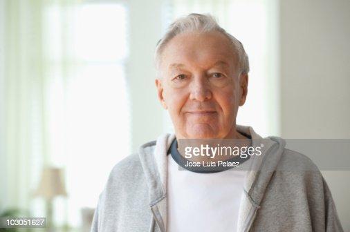 Portrait of elderly man : Stockfoto