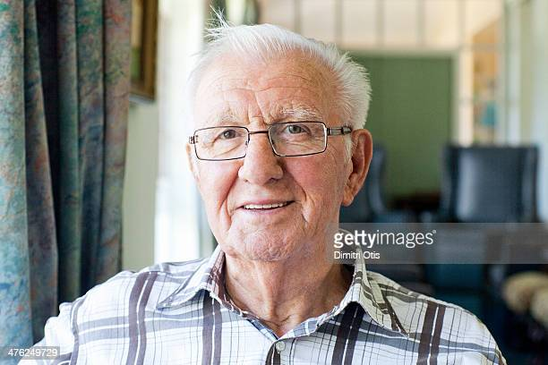 Portrait of elderly man, smiling