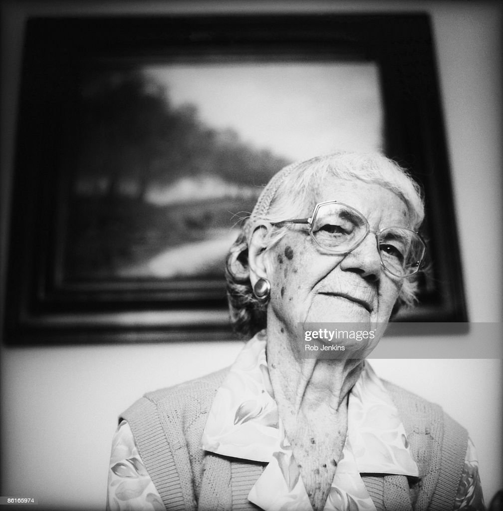 Portrait Of Elderly Woman Stock Photo | Getty Images