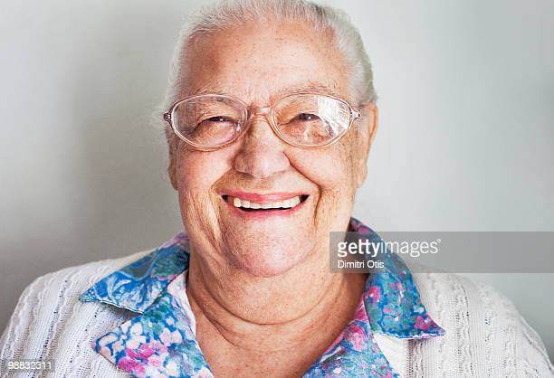 Portrait of elderly woman smiling