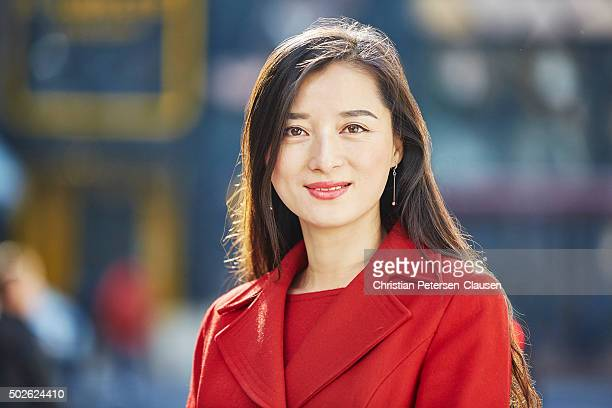 Portrait of elegant asian businesswoman standing