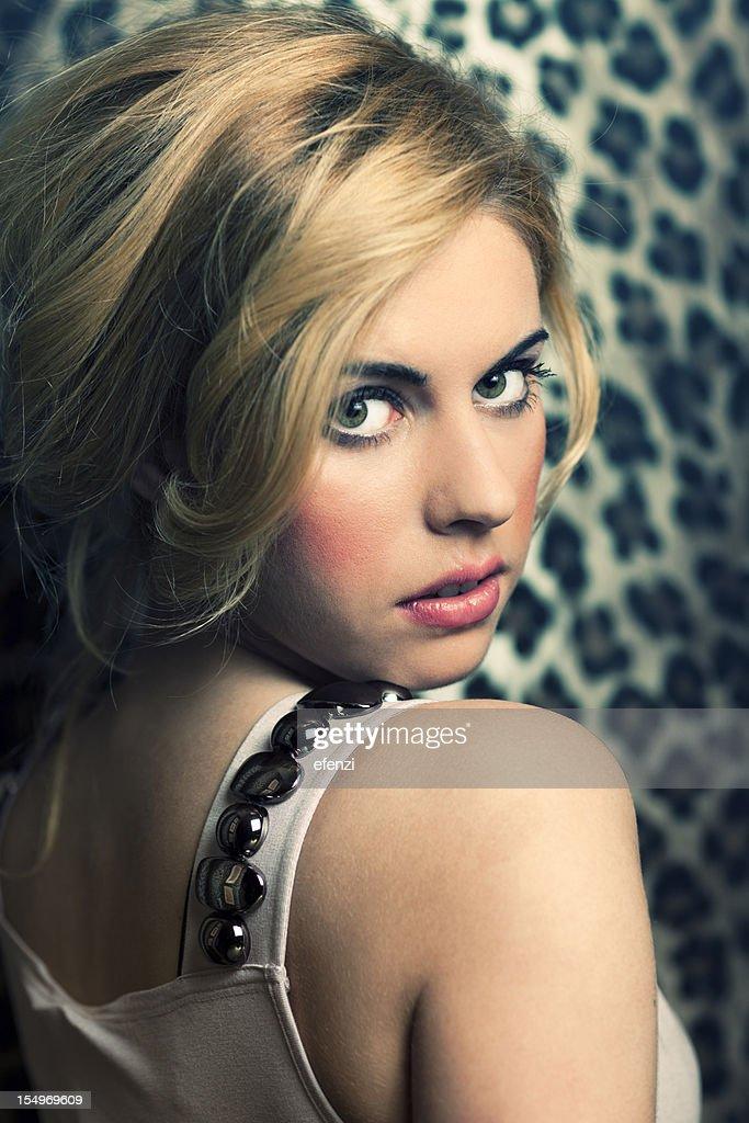 Portrait of Elegant Woman : Stock Photo