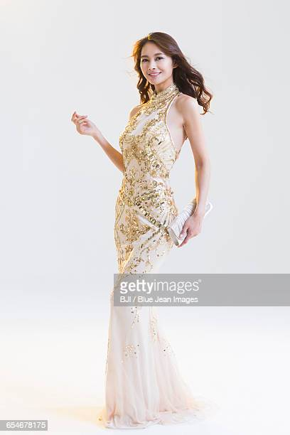 Portrait of elegant young woman