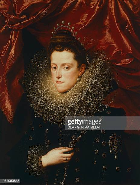 Portrait of Eleonora de Medici duchess of Mantua painting by Frans Pourbus the Younger Florence Palazzo Pitti Galleria Palatina
