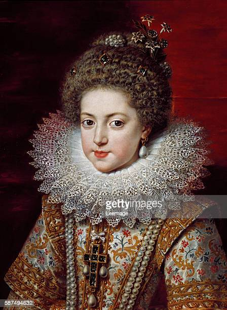 Portrait of Elisabeth of France queen consort of Spain and Portugal Painting by Frans Pourbus II the Younger ca 1611 Firenze Galleria Palatina