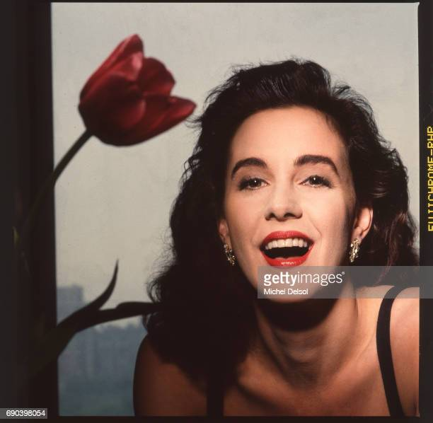 Portrait of Elizabeth Perkins American actress in New York City New York May 17th 1988 This photo was taken for New York Magazine