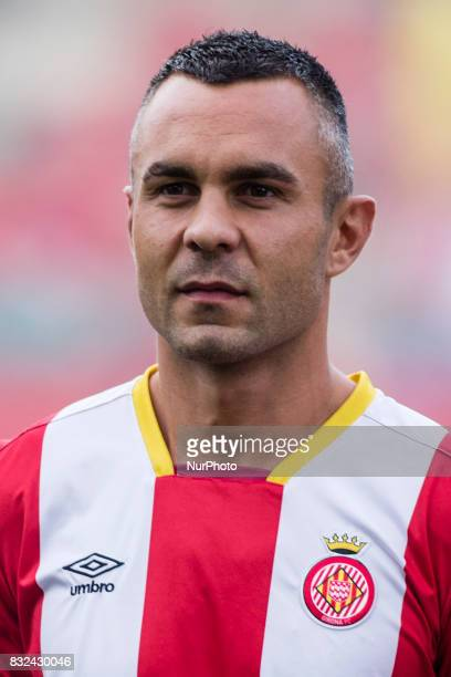 Portrait of Eloi Amagat from Spain of Girona CF during the Costa Brava Trophy match between Girona FC and Manchester City at Estadi de Montilivi on...