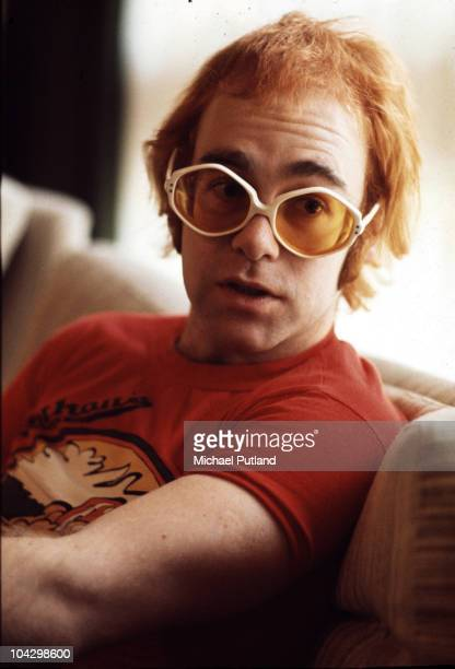 A portrait of Elton John at his home in Windsor United Kingdom 1972