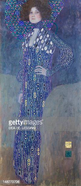 Portrait of Emilie Floge by Gustav Klimt oil on canvas 178x80 cm Vienna Historisches Museum Der Stadt Wien
