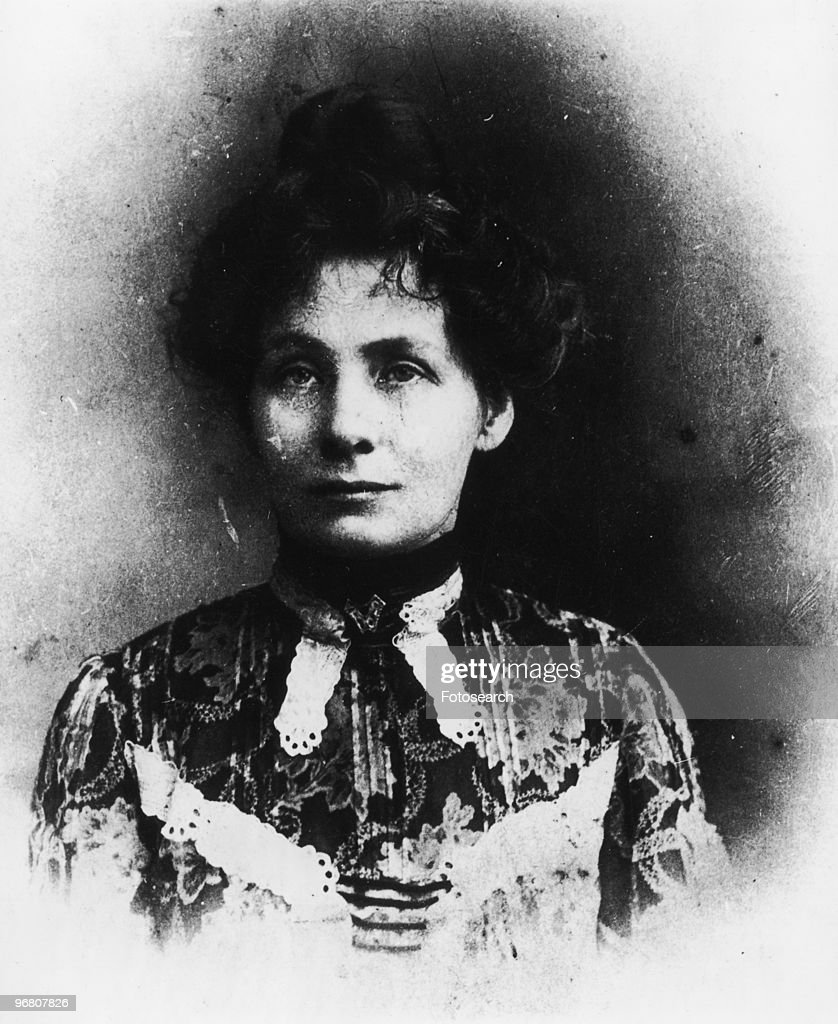 Portrait of <a gi-track='captionPersonalityLinkClicked' href=/galleries/search?phrase=Emmeline+Pankhurst&family=editorial&specificpeople=226667 ng-click='$event.stopPropagation()'>Emmeline Pankhurst</a>, circa 1900s. (Photo by Fotosearch/Getty Images).