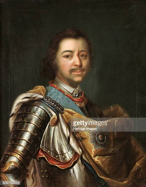 Portrait of Emperor Peter I the Great Private Collection