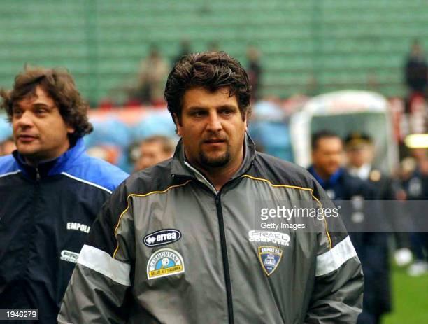 A portrait of Empoli coach Silvio Baldini taken before the Serie A match between AC Milan and Empoli played at the Giuseppe Meazza San Siro Stadium...
