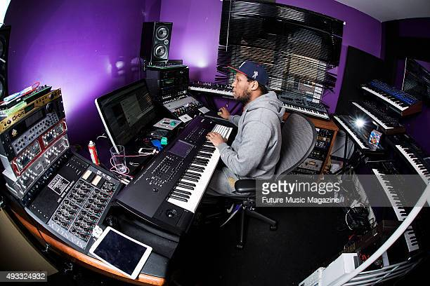Portrait of English dance music producer Liam McLean better known by his stage name Joker photographed at his home studio in Bristol on February 6...