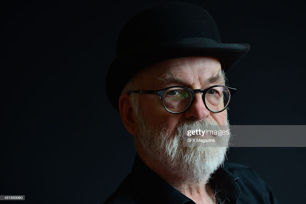 Portrait of English fantasy author Sir Terry Pratchett, photographed to promote the 40th novel in his Discworld series, Raising Steam, on September 18, 2013.