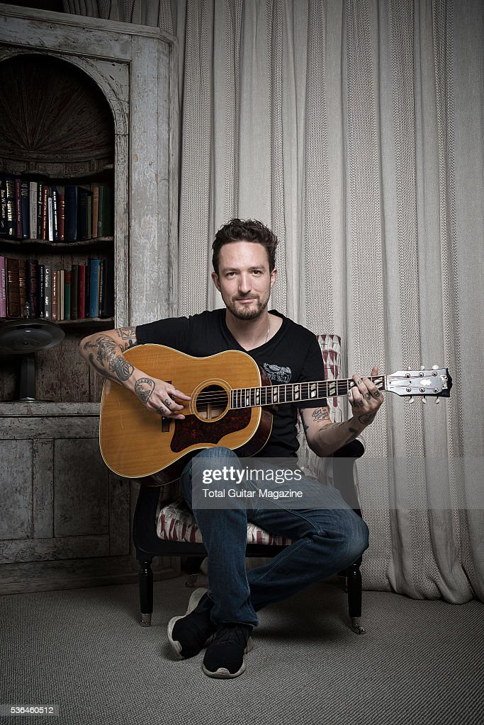 Portrait of English indie rock musician Frank Turner photographed at the Soho Hotel in London on July 30 2015